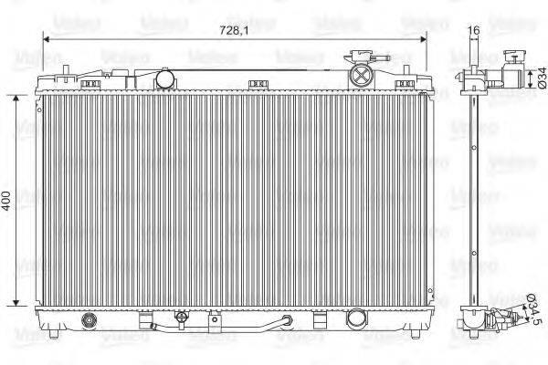 Радиатор, охлаждение двигателя VALEO 701595