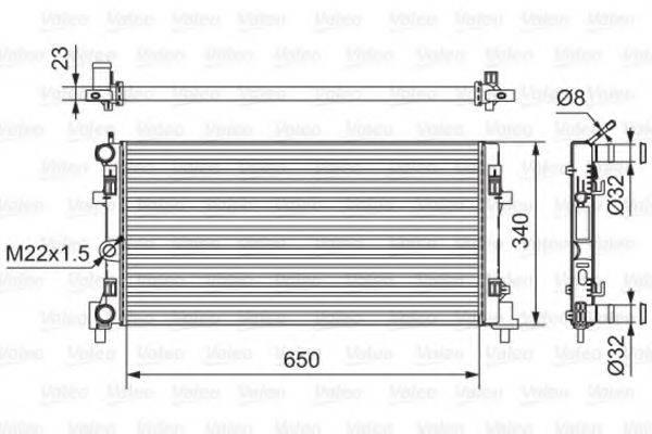 Радиатор, охлаждение двигателя VALEO 701522