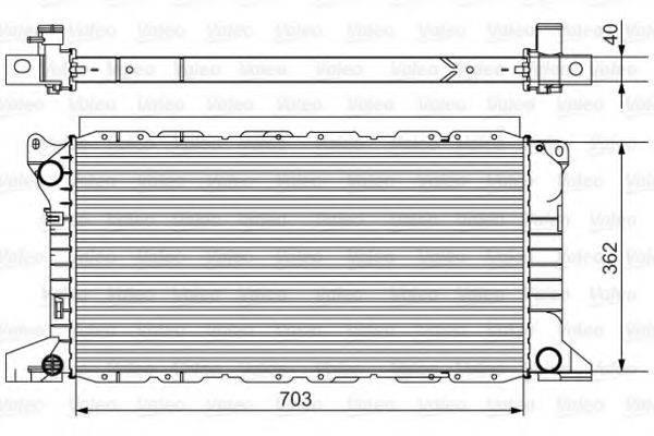 Радиатор, охлаждение двигателя VALEO 701525
