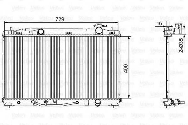 Радиатор, охлаждение двигателя VALEO 701526