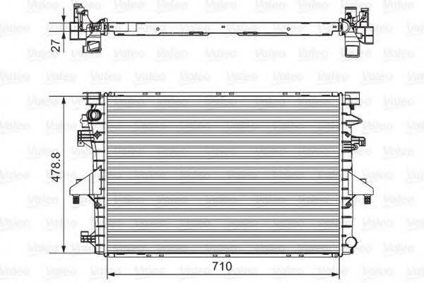 Радиатор, охлаждение двигателя VALEO 701654