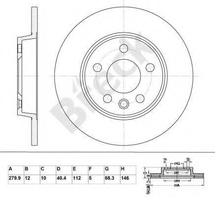 Тормозной диск BRECK BR 016 SA100
