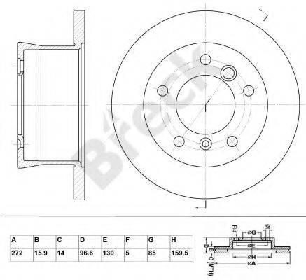 Тормозной диск BRECK BR 359 VA100
