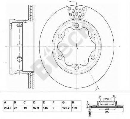 Тормозной диск BRECK BR 385 VA100