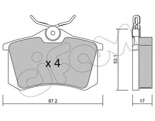Комплект тормозных колодок, дисковый тормоз CIFAM 822-100-1