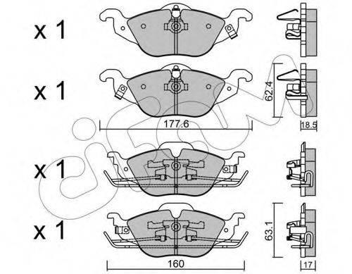 Комплект тормозных колодок, дисковый тормоз CIFAM 822-257-0