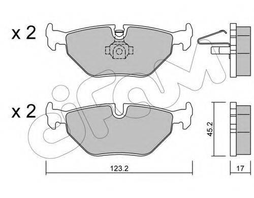 Комплект тормозных колодок, дисковый тормоз CIFAM 822-261-0