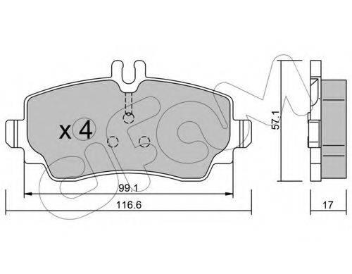 Комплект тормозных колодок, дисковый тормоз CIFAM 822-310-0