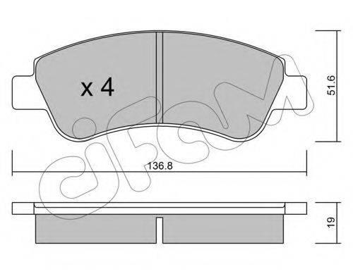 Комплект тормозных колодок, дисковый тормоз CIFAM 822-327-0