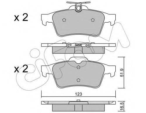Комплект тормозных колодок, дисковый тормоз CIFAM 822-337-1