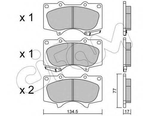Комплект тормозных колодок, дисковый тормоз CIFAM 822-454-0