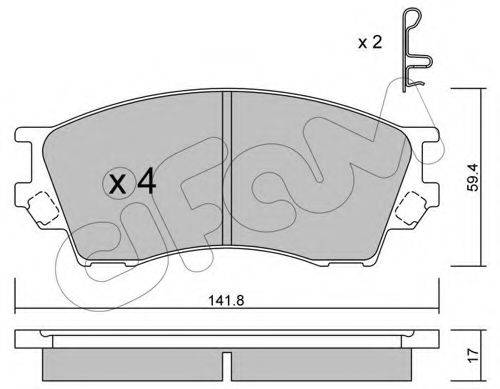 Комплект тормозных колодок, дисковый тормоз CIFAM 822-473-0