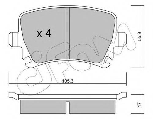 Комплект тормозных колодок, дисковый тормоз CIFAM 822-553-0