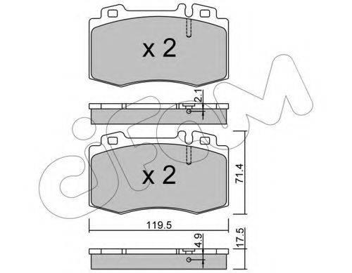 Комплект тормозных колодок, дисковый тормоз CIFAM 822-563-5