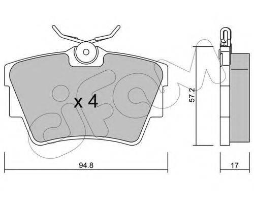Комплект тормозных колодок, дисковый тормоз CIFAM 822-635-0