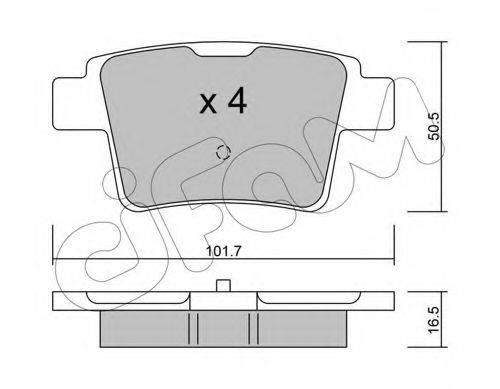 Комплект тормозных колодок, дисковый тормоз CIFAM 822-677-0