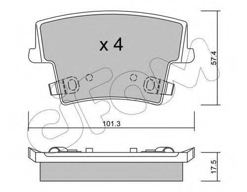 Комплект тормозных колодок, дисковый тормоз CIFAM 822-718-0