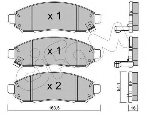 Комплект тормозных колодок, дисковый тормоз CIFAM 822-743-0