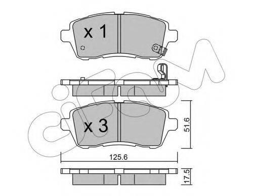 Комплект тормозных колодок, дисковый тормоз CIFAM 822-793-0
