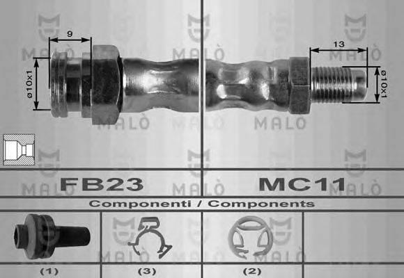 Тормозной шланг MALO 8403