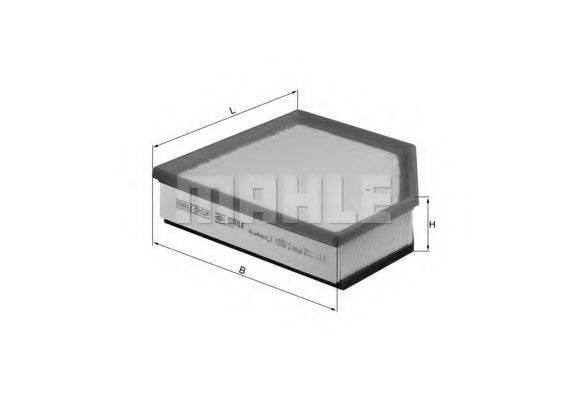 Воздушный фильтр KNECHT LX 1593/2