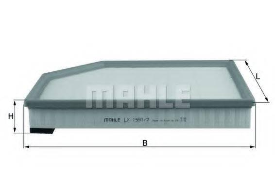 Воздушный фильтр KNECHT LX 1591/2