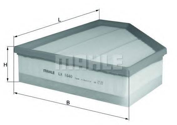 Воздушный фильтр KNECHT LX 1640