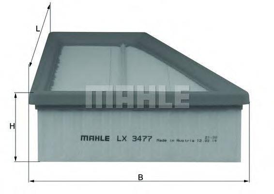 Воздушный фильтр KNECHT LX 3477