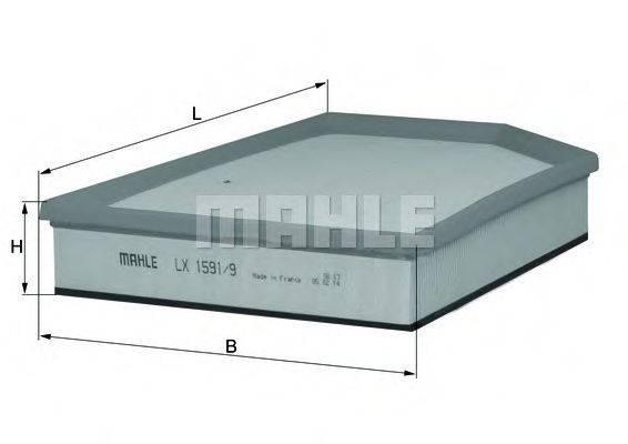 Воздушный фильтр KNECHT LX 1591/9