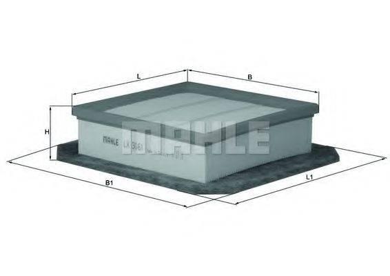 Воздушный фильтр KNECHT LX 3061