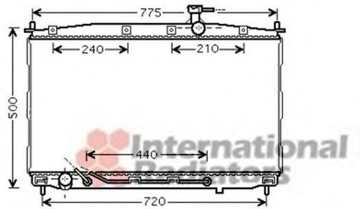 Радиатор, охлаждение двигателя VAN WEZEL 82002174