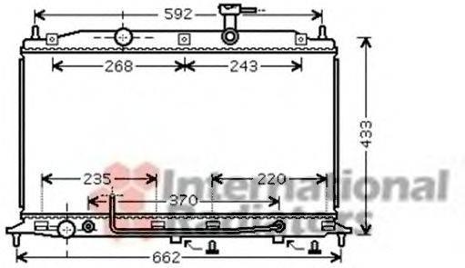 Радиатор, охлаждение двигателя VAN WEZEL 82002177