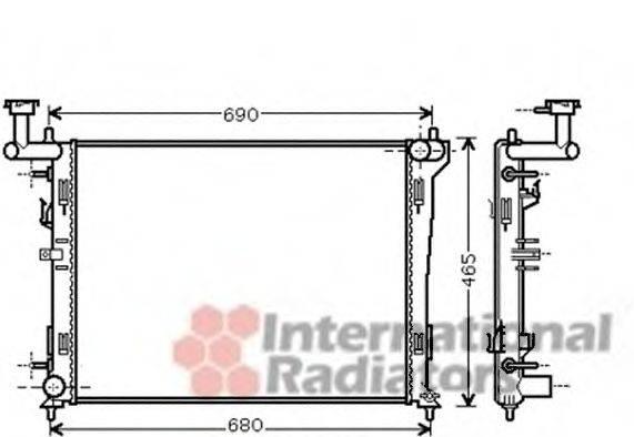 Радиатор, охлаждение двигателя VAN WEZEL 82002180