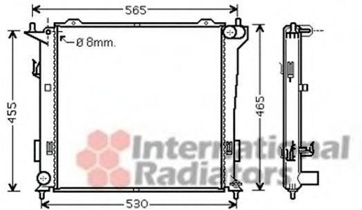 Радиатор, охлаждение двигателя VAN WEZEL 82002181