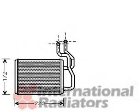 Теплообменник, отопление салона VAN WEZEL 83006088