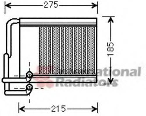 Теплообменник, отопление салона VAN WEZEL 82006213