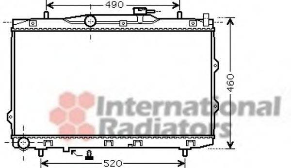Радиатор, охлаждение двигателя VAN WEZEL 83002074