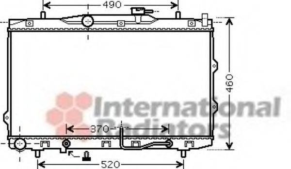 Радиатор, охлаждение двигателя VAN WEZEL 83002075