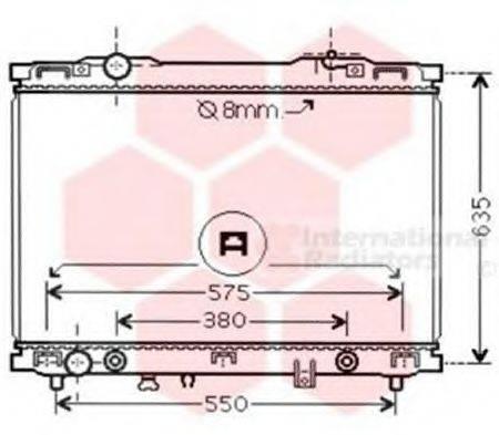 Радиатор, охлаждение двигателя VAN WEZEL 83002057