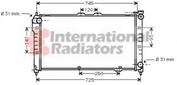 Радиатор, охлаждение двигателя VAN WEZEL 27002101