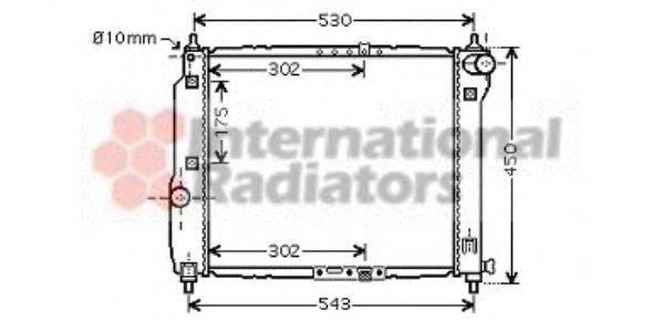Радиатор, охлаждение двигателя VAN WEZEL 81002066
