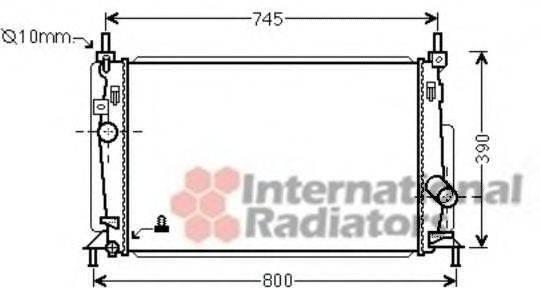 Радиатор, охлаждение двигателя VAN WEZEL 27002237