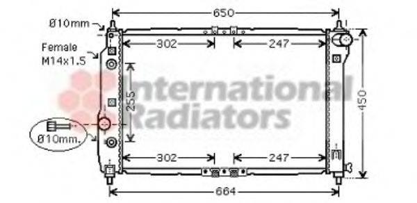 Радиатор, охлаждение двигателя VAN WEZEL 81002068