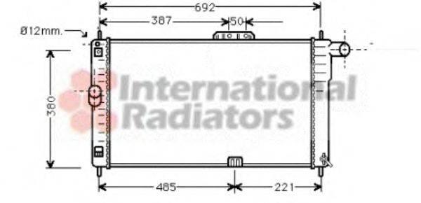 Радиатор, охлаждение двигателя VAN WEZEL 81002004