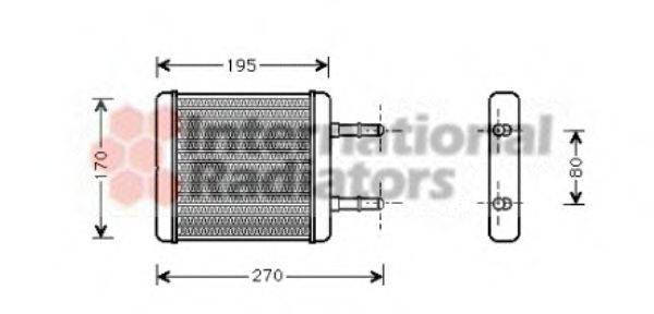 Теплообменник, отопление салона VAN WEZEL 82006061