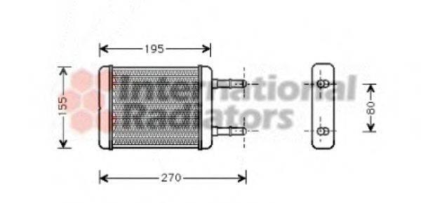 Теплообменник, отопление салона VAN WEZEL 82006064