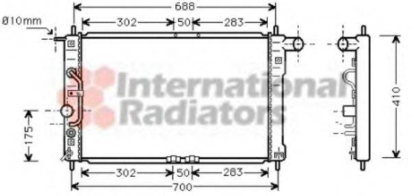 Радиатор, охлаждение двигателя VAN WEZEL 81002015