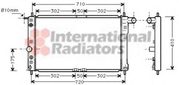 Радиатор, охлаждение двигателя VAN WEZEL 81002017