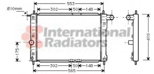 Радиатор, охлаждение двигателя VAN WEZEL 81002039