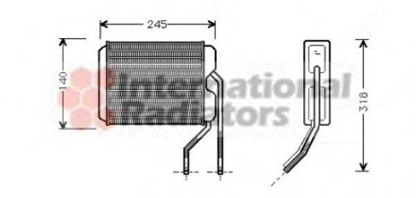 Теплообменник, отопление салона VAN WEZEL 81006026